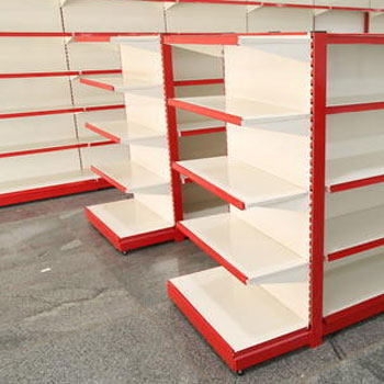 Two sided store shelving