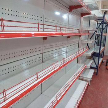 Self standing store shelves